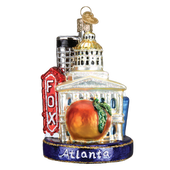 Atlanta Landmarks Glass Ornament