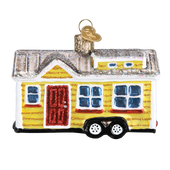 Tiny House Glass Ornament