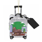 World Traveler Suitcase Italy Christmas Ornament