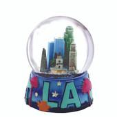 Los Angeles Skyline Snow Globe 3.5 Inches