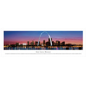 Panoramic St. Louis Skyline Poster