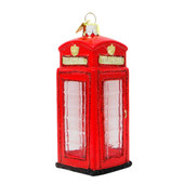 London Telephone Booth Glass Ornament