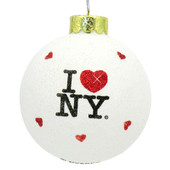 I Love NY Glitter Ornament