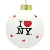 I Love NY Glitter Ornament