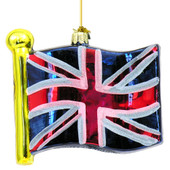 British Union Jack Flag Glass Ornaments