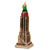 Empire State Building at Christmas Ornament - Glass