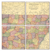 Arkansas Map Coaster Set of 4