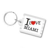 I Love Miami Plastic Key Chains, I Heart Miami