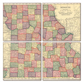 Missouri Map Coaster Set of 4