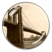 Brooklyn Bridge Skyline Crystal Paperweight
