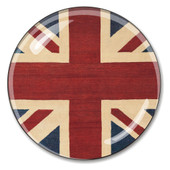 British Flag Union Jack Crystal Paperweight