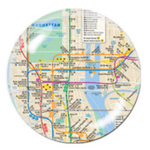 NYC Subway Map Crystal Paperweight