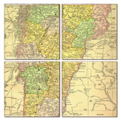 Vermont Map Coaster Set of 4