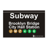 Brooklyn Bridge Subway Magnet