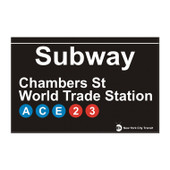 World Trade Center Station Subway Magnet
