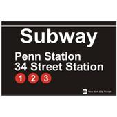 Penn Station Replica Subway Sign