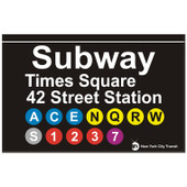 Times Square Replica Subway Sign Tin