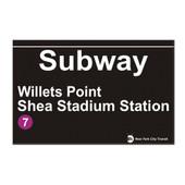 Shea Stadium Subway Sign