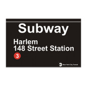 Harlem Replica Subway Sign