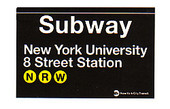 NYU & 8th Street Replica Subway Sign