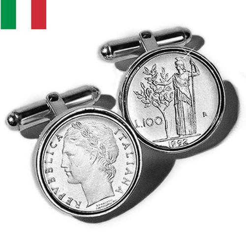 Sterling Silver Italian Lire Coin Cufflinks