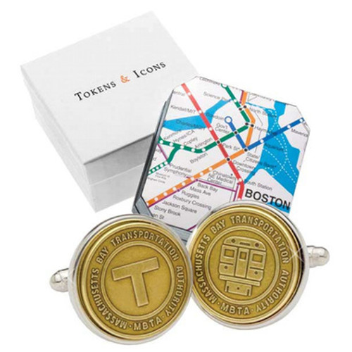 Boston Transit Token Cufflinks
