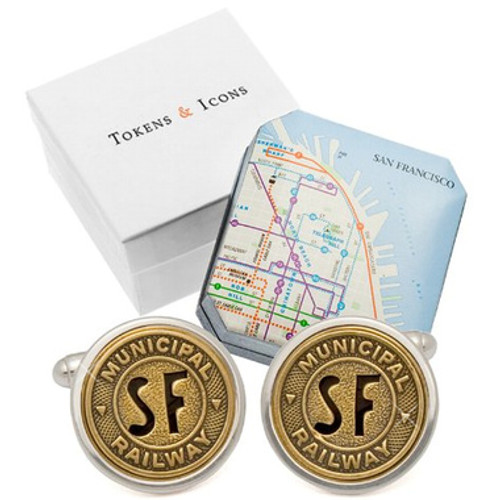 San Francisco Railway Token Cufflinks