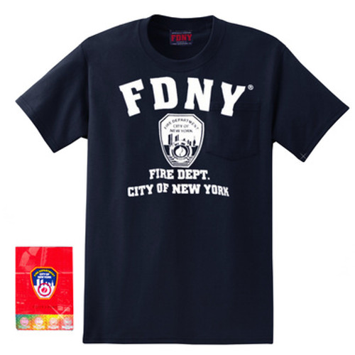 Navy FDNY T-Shirt Fire Department