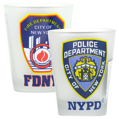 NYPD and FDNY Shot Glasses