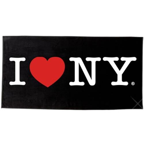 I Love NY Beach Towel - Black