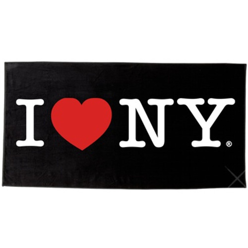 I Love NY Beach Towel - Black
