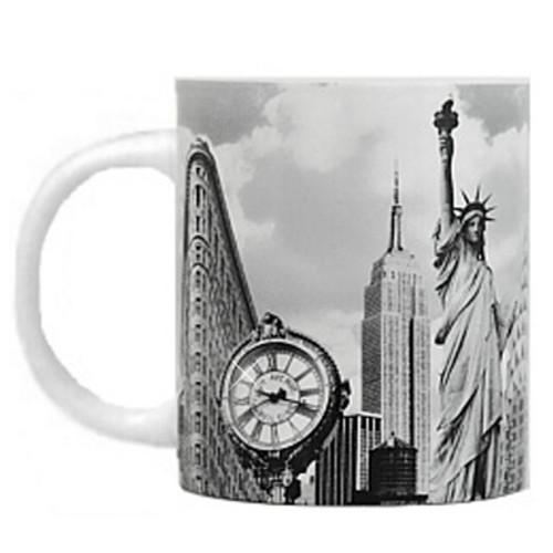 Black and White New York City Landmark Photo Mug