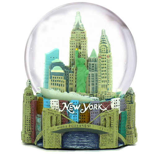 New York snow globe musical 100mm globe.
