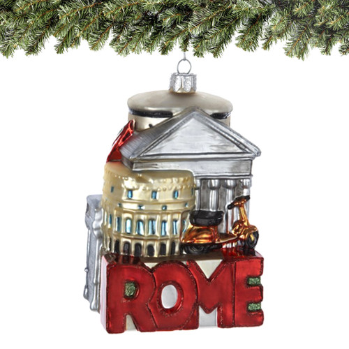 Noble Gems Glass Rome Christmas Ornaments