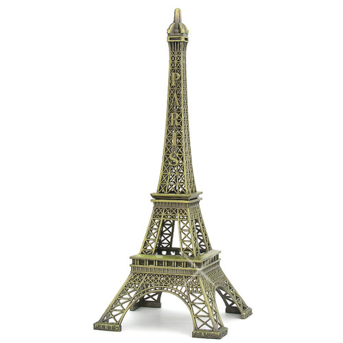 15 Inch Eiffel Tower Statues Metal Paris Souvenir