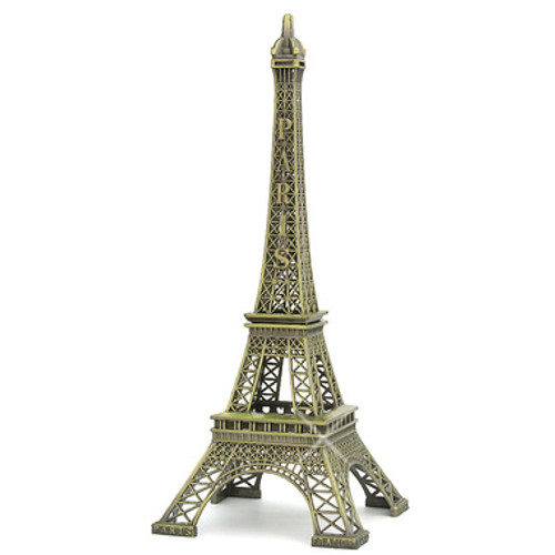 19 Inch Bronze Eiffel Tower Statue Paris Home Decor