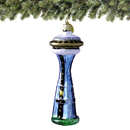 Seattle Space Needle Glass Ornaments