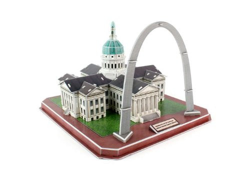 St. Louis Gateway Ach and Old Courthouse 3D Puzzle