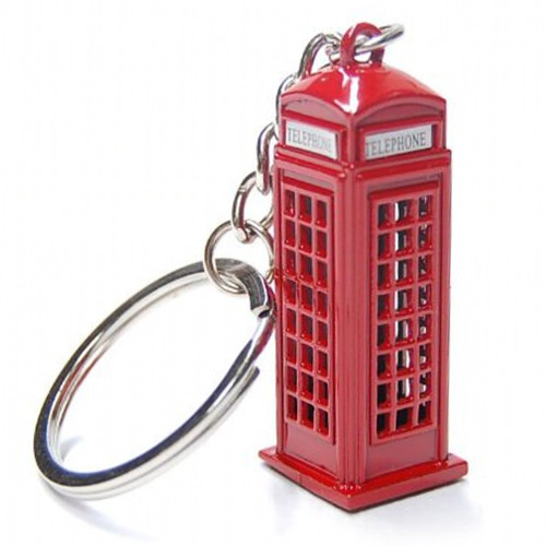 London Phone Booth Keychains, key ring