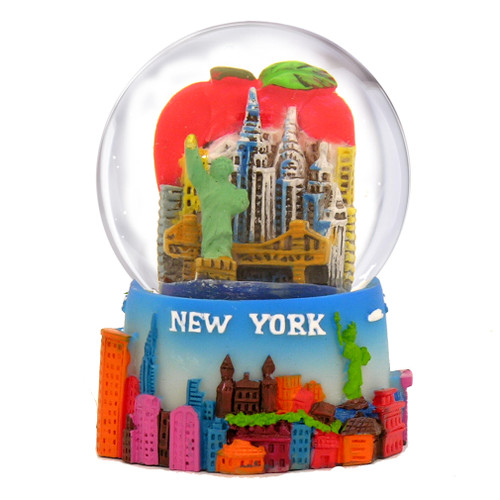 Mini New York Big Apple Snow Globe Souvenir