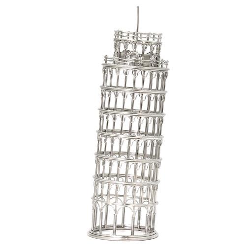 Leaning Tower of Pisa Replica Model in Steel Wire