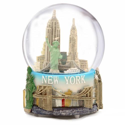 St Louis Taxi >> NYC Musical Snow Globe Souvenir