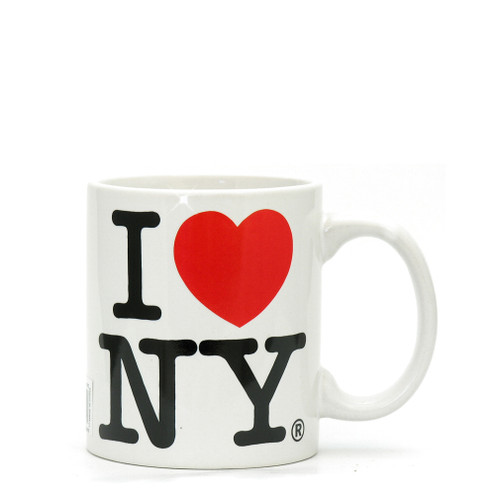 White I Love NY Mini Mug