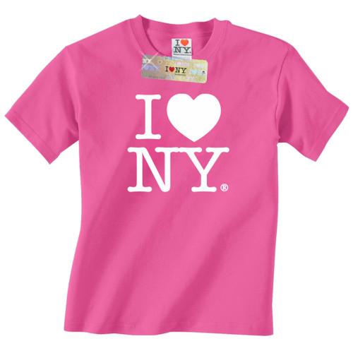 Hot pink I Love NY T-Shirt