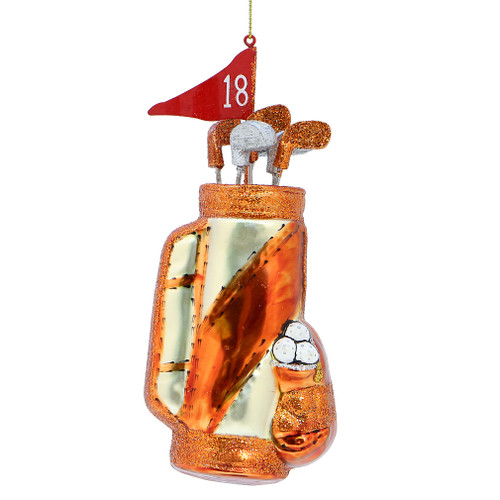 Golf Clubs and Bag Glass Ornaments