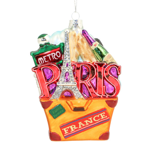Paris Landmark Christmas Ornament, Travel Edition
