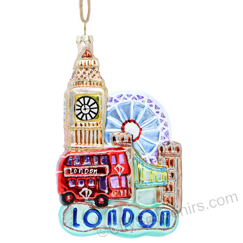 London Glass Collage Ornaments