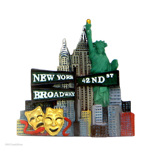 Color Landmark Broadway 3D Magnet