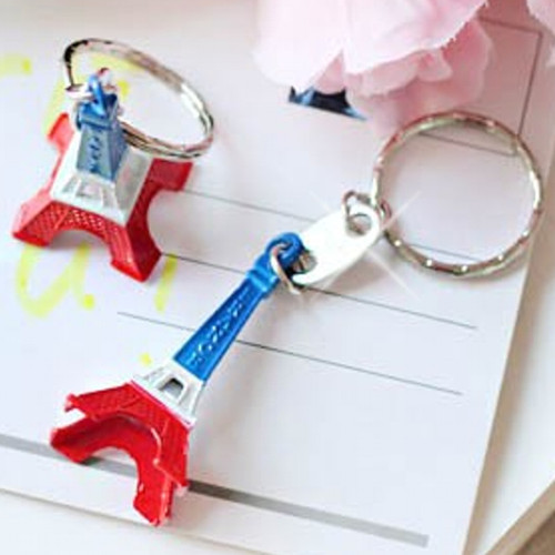 Red, White & Blue Eiffel Tower Key Chains