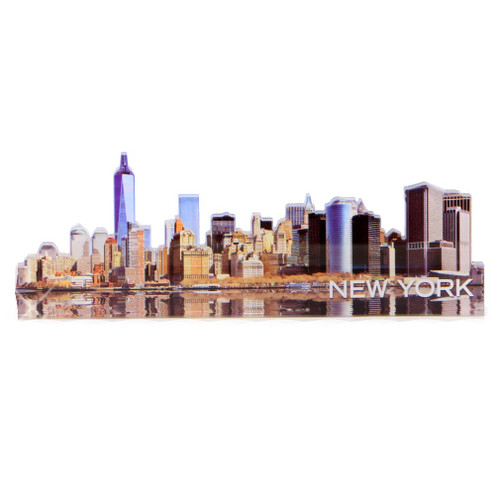 New York City Downtown Skyline Acrylic Magnet